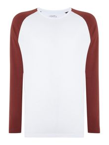 Jack & Jones Long Sleeve Contrast Sleeve Raglan Top