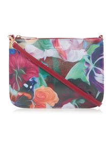 Lanaa multi floral leather crossbody
