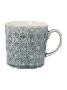 Linea Amazon Light Crackle Glaze Mug