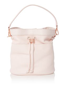 Kashia light pink large bucket crossbody
