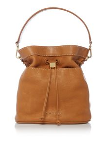 Kashia tan large bucket crossbody
