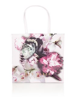 Criscon pink floral large bowcon tote bag