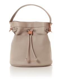 Kashia light grey large bucket crossbody