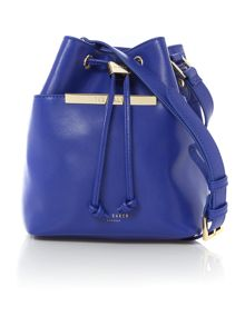 Ersilda blue small bucket crossbody