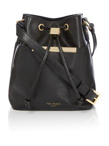 Ted Baker Ersilda black small bucket crossbody