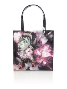 Ted Baker Shelcon bowcon black floral small tote bag