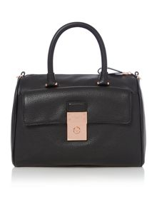 Ted Baker Katey black large leather bowling bag