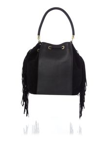 Ted Baker Emilya black small leather bowling bag