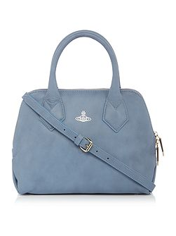 Spencer small blue grab tote bag