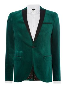 Label Lab Bramley Velvet Blazer with Contrast Lape