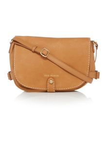 Regan tan leather shoulder bag