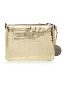 Vivienne Westwood Turner gold small embossed crossbody