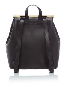 Ted Baker Monise black leather backpack
