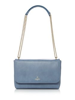 Spencer blue flapover shoulder bag