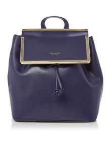 Ted Baker Monise navy leather backpack