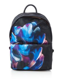 Casiddy black floral nylon backpack
