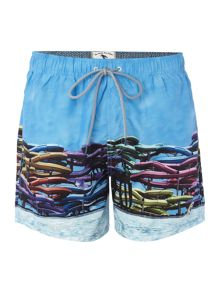 Ted Baker Slides print swim short