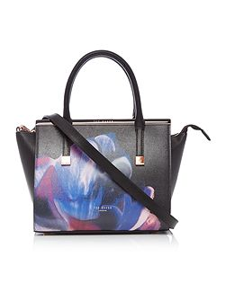 Ted Baker Ceri black floral cross body tote