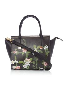 Ted Baker Shena black floral cross body tote bag