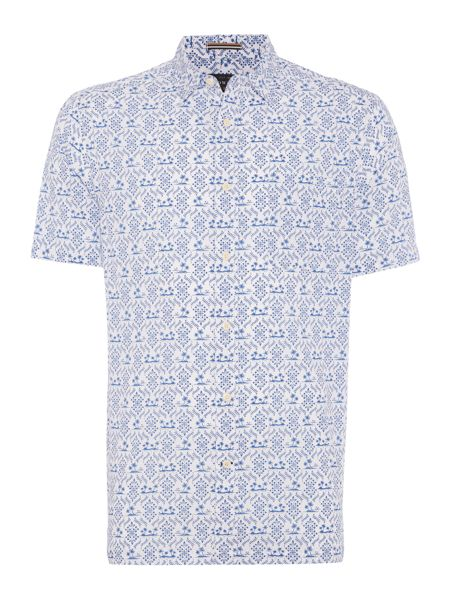 Howick South pacific print short sleeve shirt