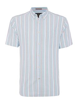 Chilson short sleeve oxford stripe shirt