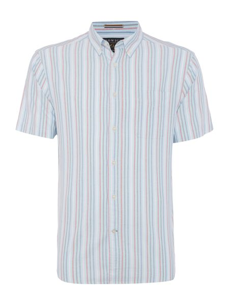 Howick Chilson short sleeve oxford stripe shirt