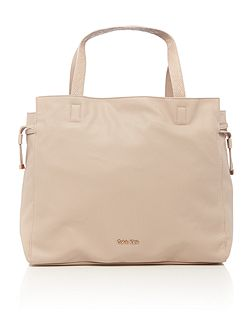 Amber neutral large tote bag