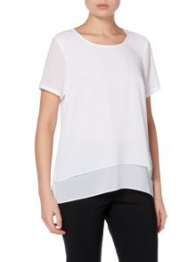 Michael Kors Short sleeve split back top