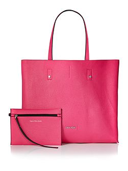 Joyce black/pink reversible tote bag