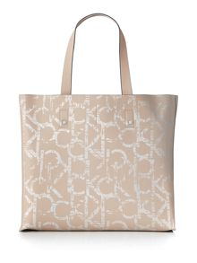 Joyce neutral large reversible tote bag