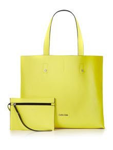 Calvin Klein Joyce black/yellow reversible tote bag