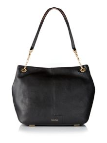 Calvin Klein Mia black shoulder tote bag