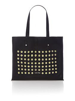 Joyce black large shoulder tote bag