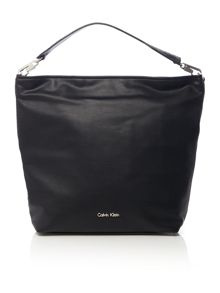 Amber black hobo bag
