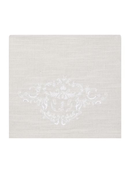 Shabby Chic Embroidered Motif Napkin Set Of 4