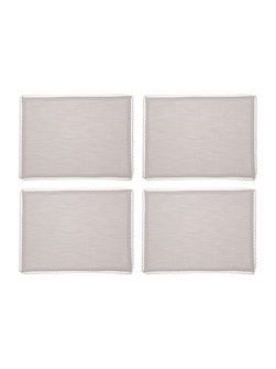 Shabby Chic Lace Trim Placemat Set Of 4