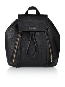 Nora black shoulder backpack