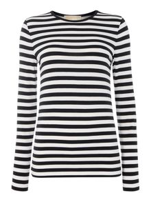Long sleeve scott stripe top