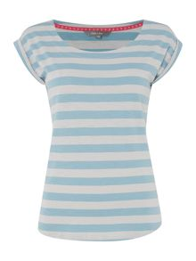LILY & ME Striped short sleeve t shirt