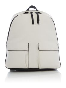 White and black backpack
