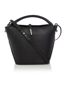 Kenneth Cole Black flap over cross body bag