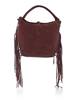 Kenneth Cole Burgundy fringe crossbody bag