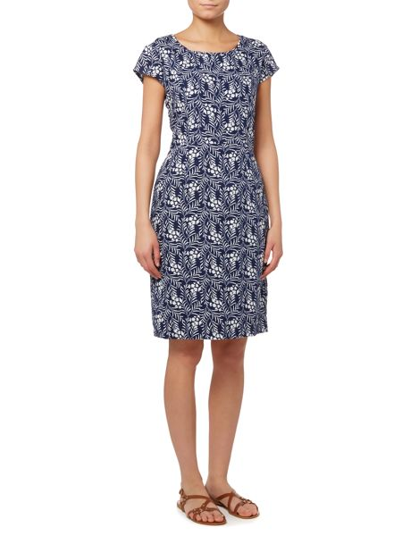 LILY & ME Floral printed linen dress