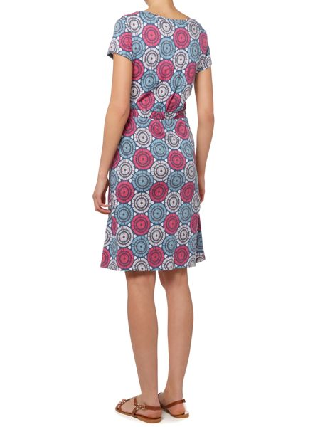 LILY & ME Scoop neck button up dress