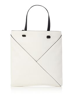 Kenneth Cole White and black tote bag