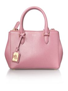 Lauren Ralph Lauren Newbury light pink mini double zip tote bag