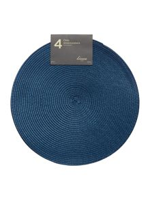 Linea Blue Oslo Placemat Set Of 4