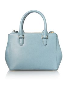 Lauren Ralph Lauren Newbury light blue mini double zip tote bag