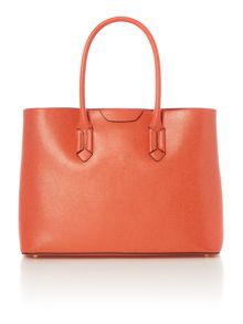 Tate orange large city tote bag