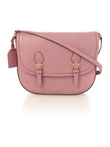 Tate light pink messenger cross body bag